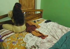 Fucking My Sexy Indian Sister In Bedroom After a long time Alone At Home