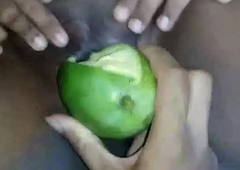 Bhabhi effectuation with himself aid of green mango