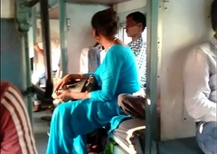 Indian porn just about train by aunty