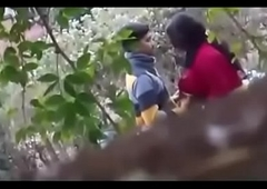 indian couple sexual intercourse in outdoor mushaffur garden